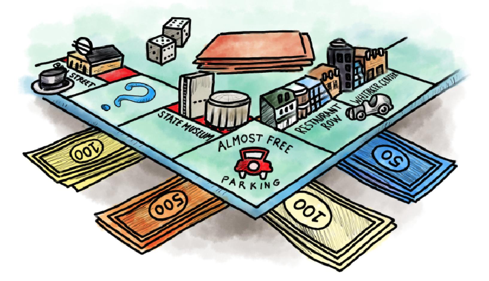 monopol gratis parkering