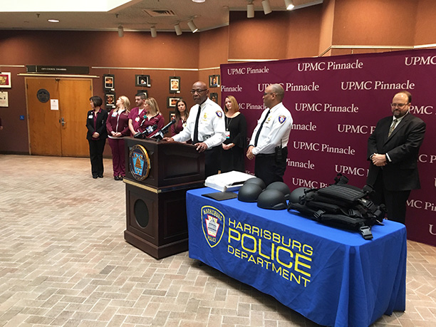 Harrisburg police demonstrate new protective gear, following