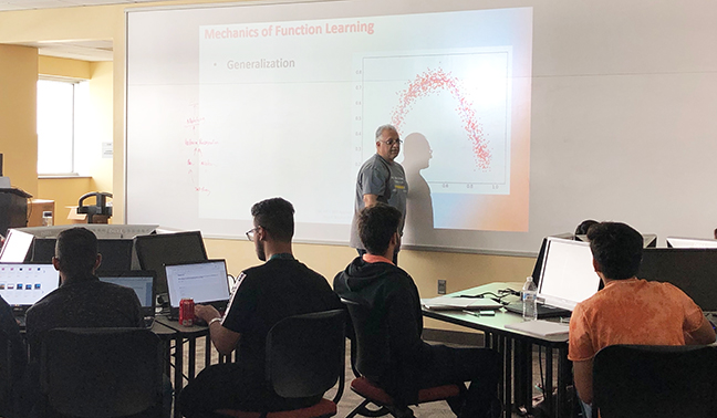 Students come from a world away to attend HU's AI boot camp.